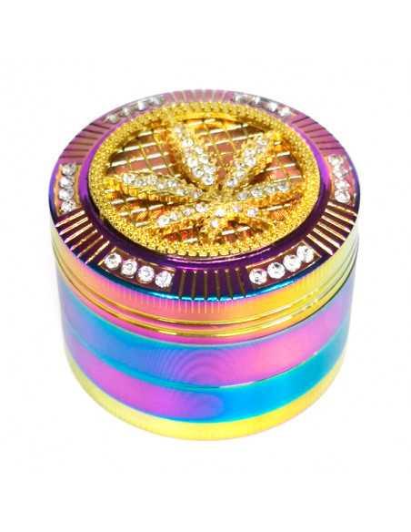 Grinder Polinizador color arco iris 4 partes 50x40 mm.