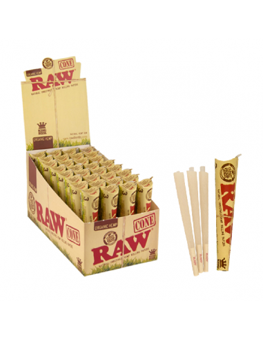 Raw Cones King Size Organico 3 ud. x 32 Blister.
