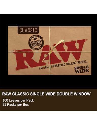 Raw Single Wide Doble 100 Hojas - 25 Librillos.